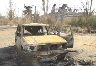 Боевики уничтожили авто ВСУ