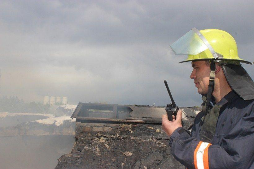 Недалеко от Львова несколько часов горел маслозавод