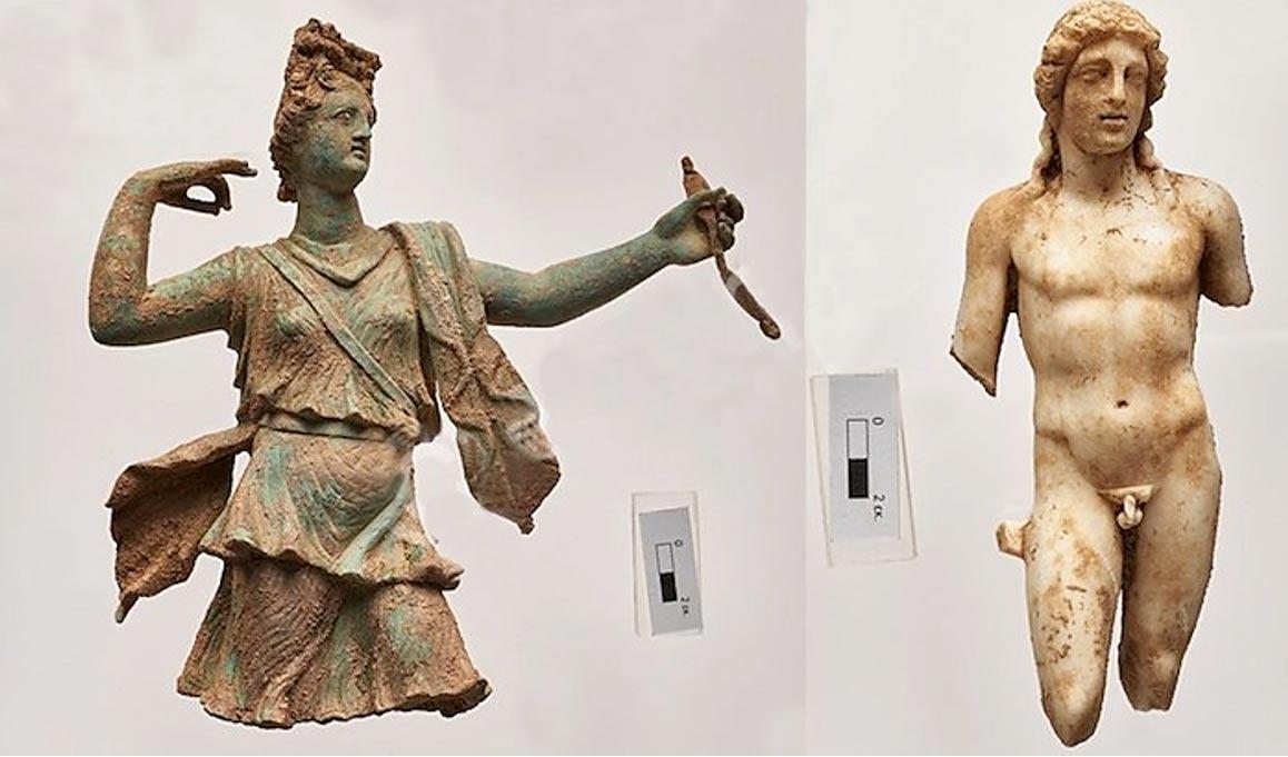На Крите в ходе раскопок нашли две уникальные фигурки Артемиды и Аполлона