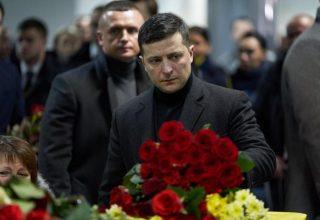 Зеленский встретил самолёт с жертвами авиакатастрофы в Иране
