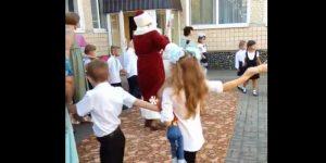 В одной из школ Кривого Рога 1 сентября праздновали с Дедом Морозом