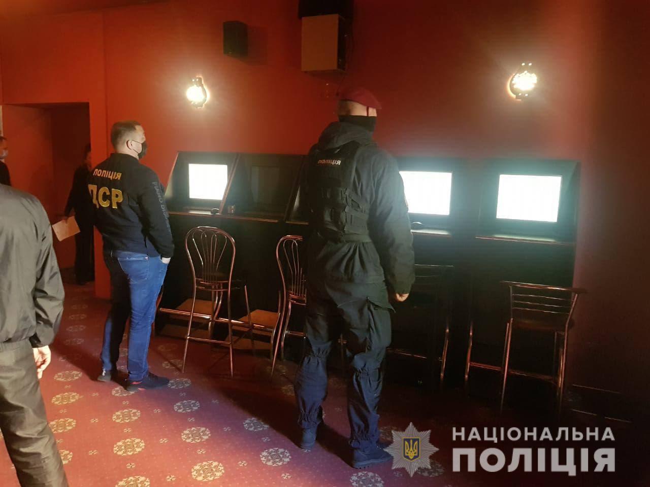 Сотрудники полиции Черкасс пресекли незаконную деятельность подпольного казино