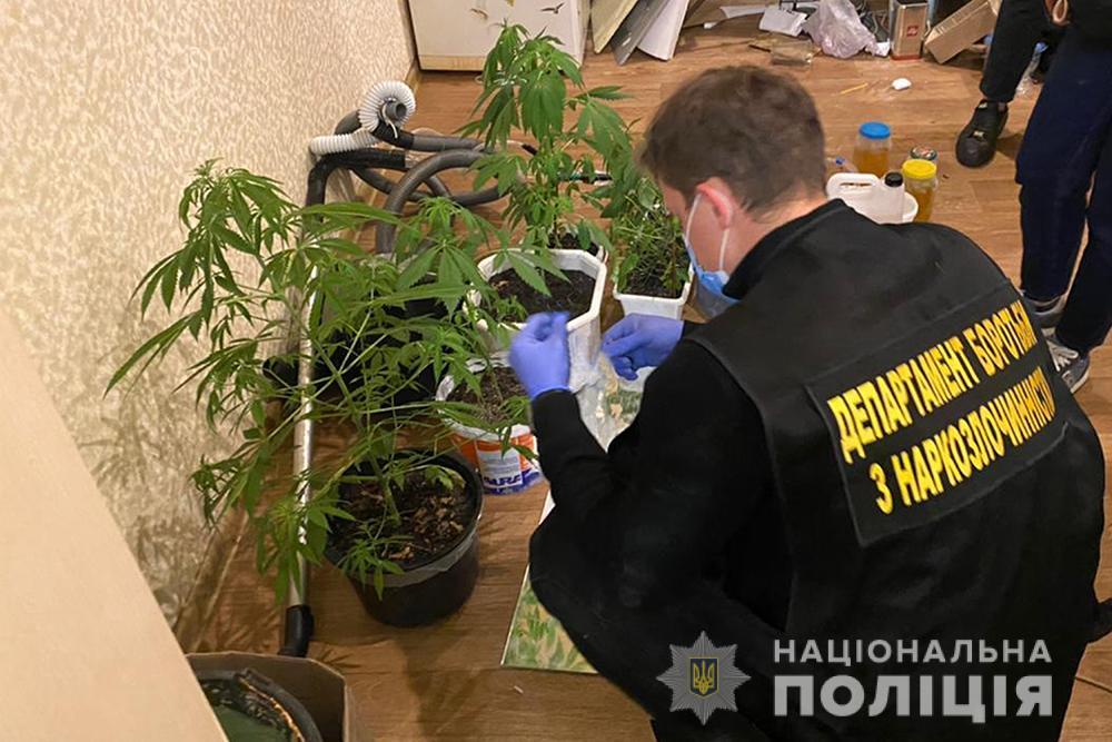 Киевские правоохранители разоблачили деятельность двух наркоторговцев