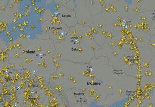 Россия не выдает разрешения на полёт рейсам, которые летают в обход воздушного пространства Беларуси