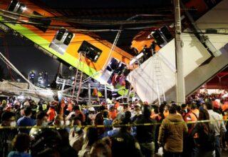 В Мехико железнодорожная эстакада обрушилась на дорогу, погибли 23 человека