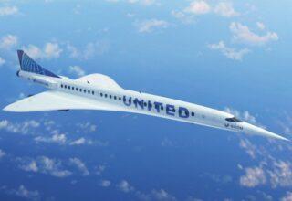Американская авиакомпания «United Airlines» заказала 15 новых сверхзвуковых авиалайнеров