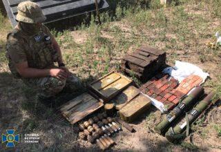 СБУ обнаружила сеть тайников со взрывчаткой и боевыми гранатами в столичном регионе, на востоке и юге Украины
