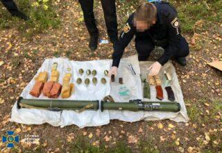 Во время учений на границе с Беларусью СБУ обнаружила реальный схрон с оружием: фото и видео с места событий